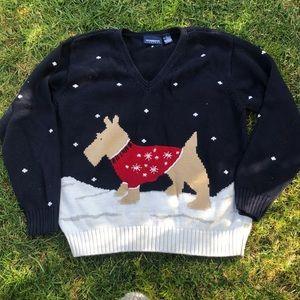 Liz Claiborne holiday dog sweater